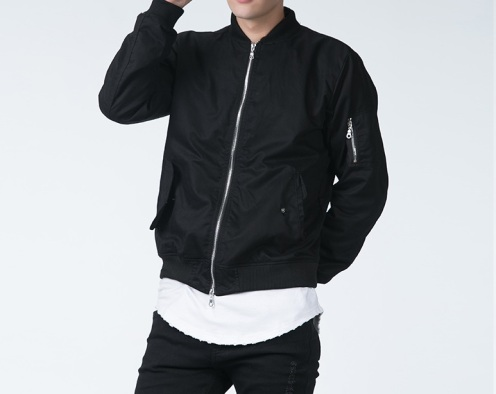 Autumn-winter-new-arrival-mens-Jackets-Two-way-zipper-design-slim-fit-BOMBER-JACKET-casual-baseball